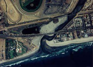 Aerial photograph of San Dieguito Lagoon